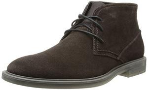 卡尔文·克雷恩(Calvin Klein) 卡尔文克莱恩-男式Ulysses深棕色仿麂皮高帮皮马靴 #Dark Brown