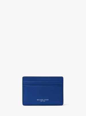 迈克高仕(Michael Kors) Harrison 真皮卡包 #铁青 #ELECTRIC BLUE