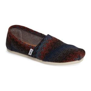 汤姆斯 女士帆布鞋 #Rust Woven Stripe