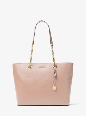 迈克高仕 Mercer女士真皮手提包 #粉红色 #BALLET