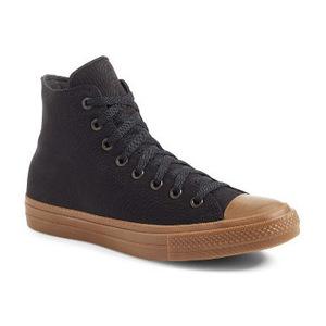 匡威(Converse) Chuck Taylor All Star Chuck II 高跟帆布鞋男士 #黑色黑色树胶 #Black/ Black/ Gum