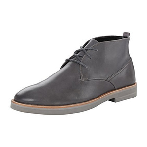 卡尔文·克雷恩 卡尔文克莱恩-男式Walter冷灰色皮革靴子 #Steel