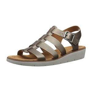 娜然(Naturalizer) Women's Donna Wedge Sandal #Nickel