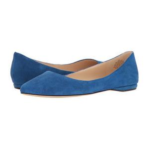 玖熙(NINE WEST) 女士平底鞋 #Blue Suede 2
