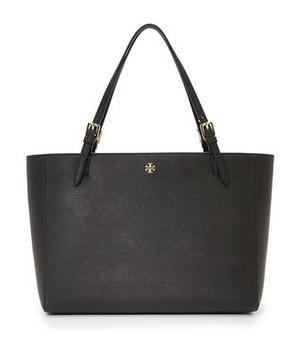 汤丽柏琦 York 带扣手提袋 #黑色