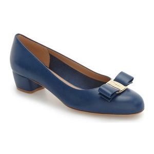 菲拉格慕(Salvatore Ferragamo) Vara Pump #蓝色真皮 #Blue Leather