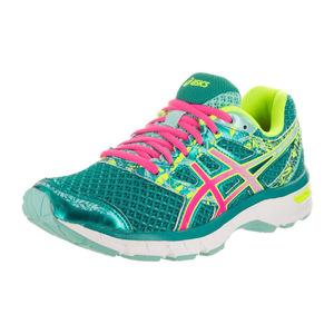 亚瑟士 跑步鞋 #Lapis/Hot Pink/Safety Yellow