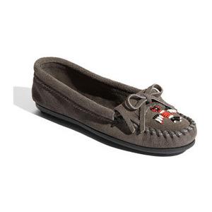 迷你唐卡(Minnetonka) '雷鸟' 软皮平底鞋-灰色 #Grey