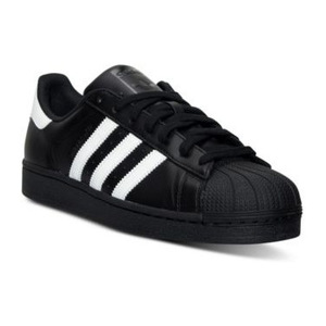 阿迪达斯(Adidas) Superstar男士休闲板鞋 #BLACK/WHITE/BLACK