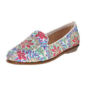 爱柔仕(Aerosoles) 女式花纹乐福鞋 #White Fabric