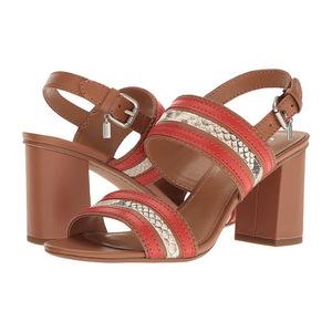 蔻驰(Coach) 女士休闲凉鞋 #Saddle/Carmine