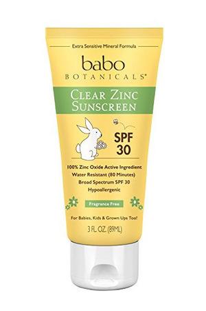 Babo Botanicals SPF 30 Clear 锌色 Lotion  香水 Free #Fragrance Free