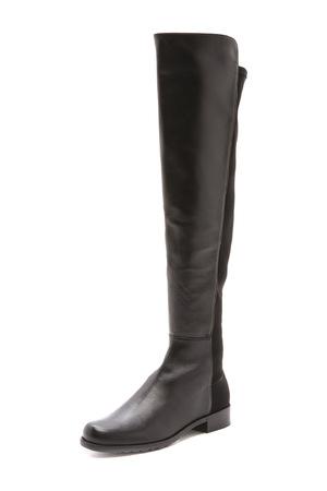 斯图尔特·韦茨曼(Stuart Weitzman) 5050女士山羊皮靴子 #黑色