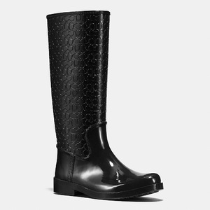 蔻驰(Coach) 女士中筒靴 #BLACK/BLACK