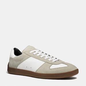 蔻驰(Coach) 男士真皮休闲鞋 #WHITE