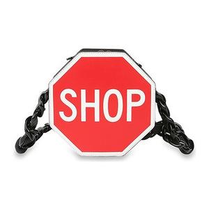 莫斯奇诺 shop字母包 #Black/ Red