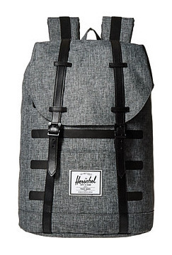 赫歇尔(Herschel Supply) CoRetreat #Raven Crosshatch StripeBlack Veggie 棕黄真皮 #Raven Crosshatch Stripe/Black Veggie Tan Leather