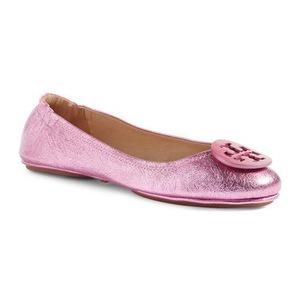 汤丽柏琦(Tory Burch) Minnie Travel 芭蕾平底鞋 #Bougainville 粉红 #Bougainville Pink