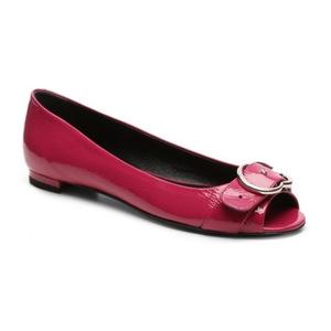 古驰(Gucci) Final Sale   Patent 真皮 Interlocking G 平底鞋 #玫瑰红 #Rose