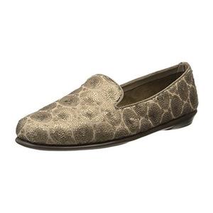 爱柔仕(Aerosoles) 女式花纹乐福鞋 #Brass Bronze