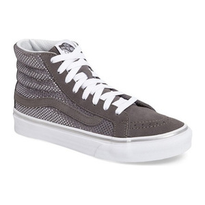 万斯(Vans) Sk8Hi Slim 高跟帆布鞋女士 #金属色 Dots Gray 青灰色 #Metallic Dots Gray/ Pewter