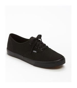 万斯 Authentic - Lo Pro女式低帮帆布鞋-Black