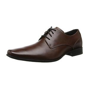卡尔文·克雷恩 卡尔文克莱恩-男式Brodie棕色牛津皮鞋 #Medium Brown