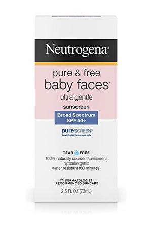 露得清(Neutrogena) Pure   Free Baby Faces Ultra Gentle Sunscreen Broad Spectrum SPF 45+