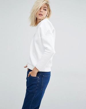阿迪达斯(Adidas) 女士卫衣 #White