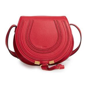 蔻依(Chloé) Mini Marcie 真皮斜跨包 #Tulip 红色 #Tulip Red