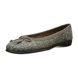 爱柔仕(Aerosoles) 女式蝴蝶结浅口芭蕾平底鞋 #Taupe Fabric