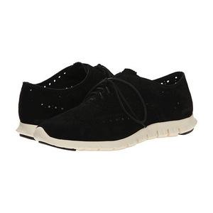 可汗(Cole Haan) 女士休闲鞋 #Black Suede