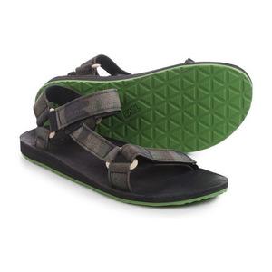 Teva Original Universal 磨毛帆布凉鞋 For 男士 #黑色 #Black