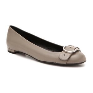古驰(Gucci) Final Sale   真皮 Interlocking G 平底鞋 #褐色 #Taupe