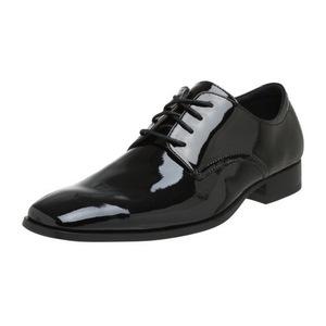卡尔文·克雷恩 男式黑色牛津皮鞋 #Black Patent
