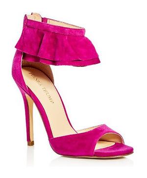 伊万卡·特朗普 晚宴鞋 #Dark Pink