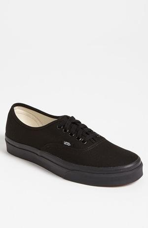 万斯(Vans) Authentic Sneaker (Men)-黑色/ 黑色 #Black/ Black