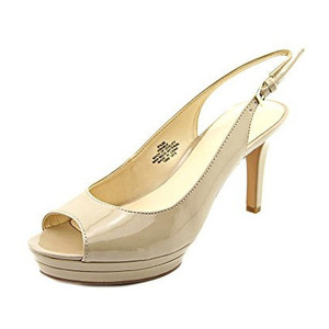 玖熙(NINE WEST) Womens Able Sandal #Patent 褐色 #Patent Taupe