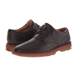 其乐(Clarks) 男士牛津鞋 #Dark Brown Tumbled Leather