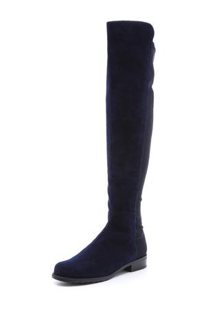 斯图尔特·韦茨曼(Stuart Weitzman) 5050女士绵羊皮靴子 #精致蓝色
