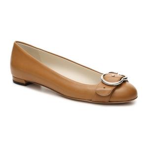 古驰(Gucci) Final Sale   真皮 Interlocking G 平底鞋 #棕黄 #Tan