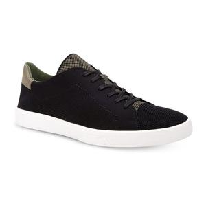 卡尔文·克雷恩 Mens Ion Knit Weave Textured 运动鞋 #BlackArmour 绿色 #Black/Armour Green