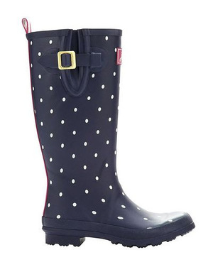 Joules Welly Print Boot  Womens #French 海军蓝 Spot #French Navy Spot