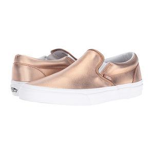 万斯(Vans) 经典一脚蹬 #金属色玫瑰红 GoldTrue 白色 #(Metallic) Rose Gold/True White