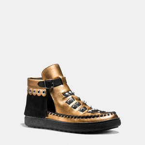 蔻驰(Coach) 女士休闲鞋 #COPPER BLACK/BLACK