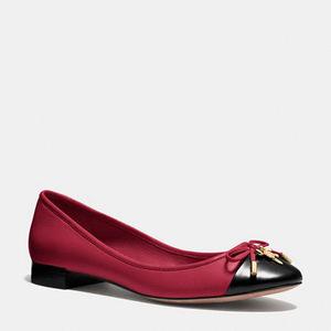 蔻驰(Coach) 女士平底鞋 #BLACK CHERRY/BLACK