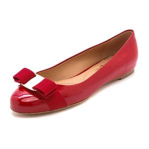 菲拉格慕(Salvatore Ferragamo) Varina 平底鞋 #Rosso