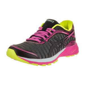 亚瑟士 跑步鞋 #Black/Pink Glow/Safety Yellow