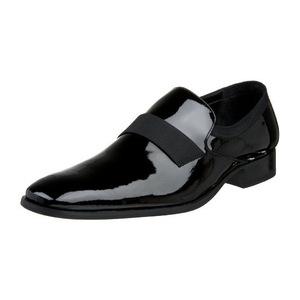 卡尔文·克雷恩 男式亮黑色无鞋带皮鞋 #Black Patent
