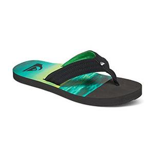 极速骑板(Quiksilver) Mens Basis Sandal #BlackGreenGreen #Black/Green/Green